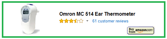 Omron MC 514 Ear Thermometer